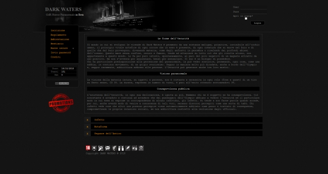 Dark Waters - Home Page