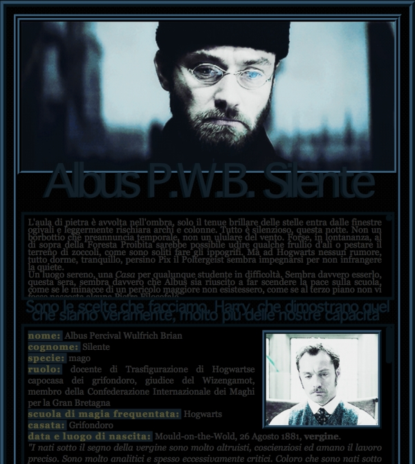 Fantastic Beasts and Where to Find Them GDR - Scheda Albus