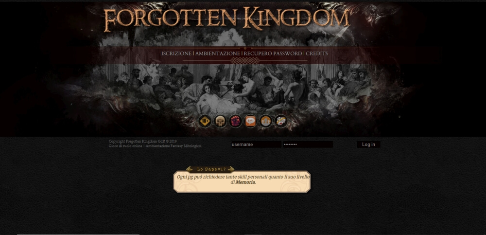 Forgotten Kingdom GdR - Home Page