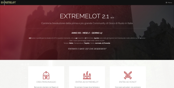 Nuova Home Page eXtremelot
