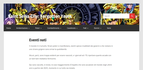 Saint Seiya City: Forgotten Years - Eventi