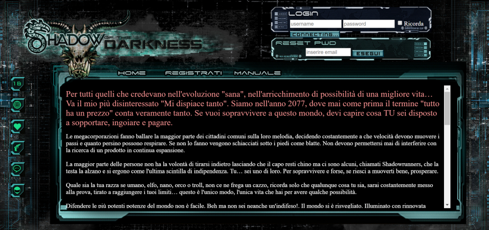 Shadow of the Darkness - Home Page