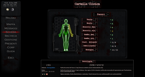 Hell Dawn London Cartella Clinica