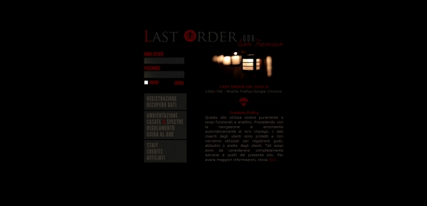 Last Order - Home Page