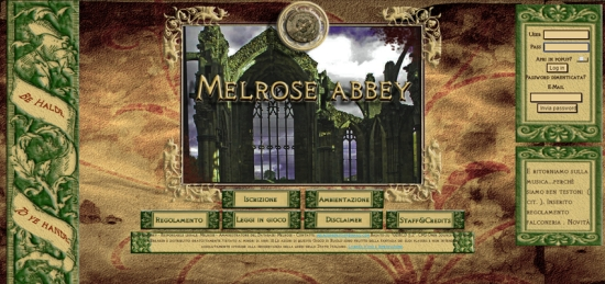 Melrose Abbey - Home Page