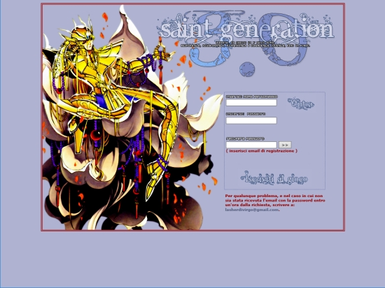 Saint Generation - Home Page