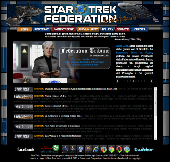 Star Trek Federation Home Page