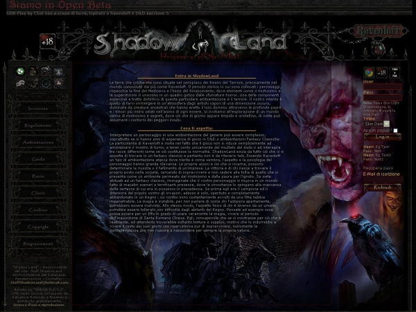 Shadow Land - Prisoners of the Mist - Home Page