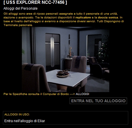 Starfleet Headquarters - Alloggi del Personale