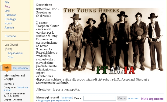 The Young Riders Italia Mailing List