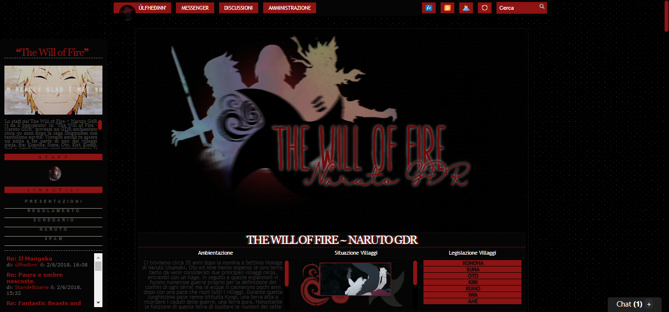 The Will of Fire - Naruto GDR
